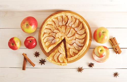 artă cu mere și scorțișoară