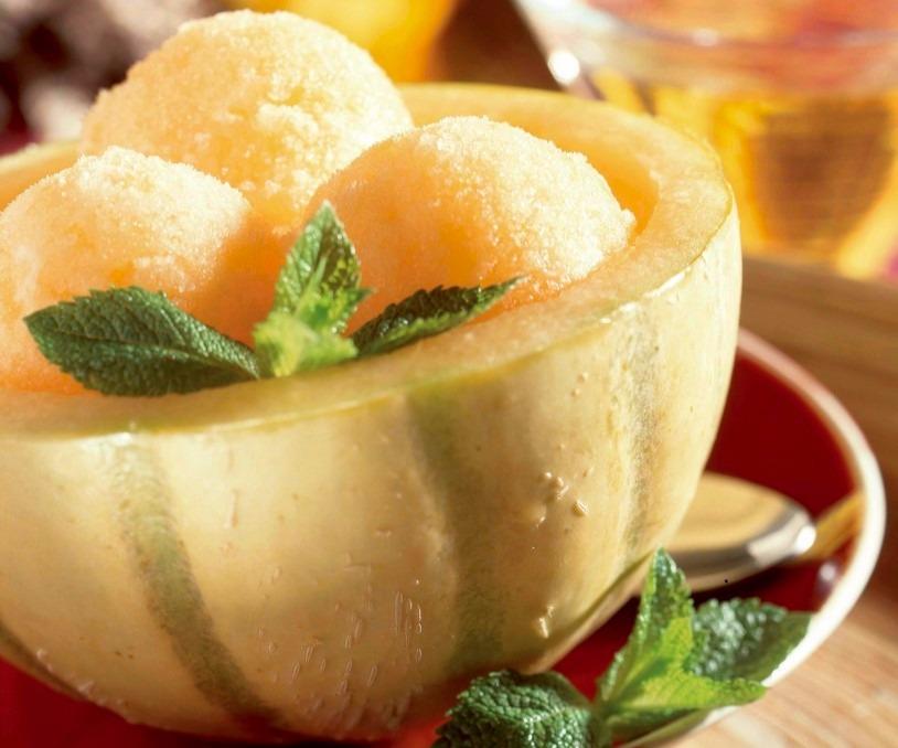Îngheţată de pepene galben