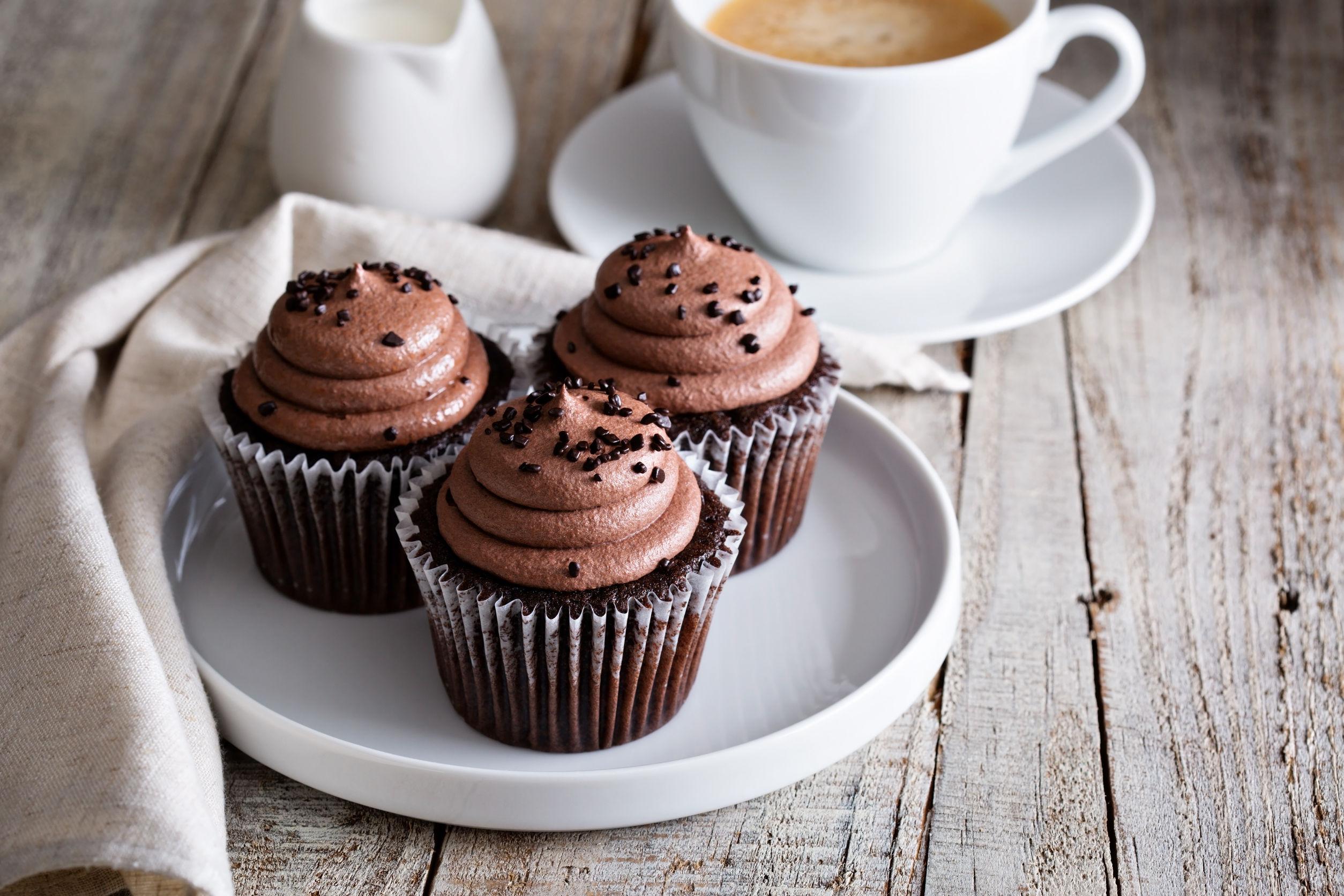 Brioșe cu ciocolată