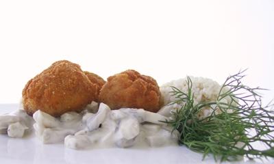 chiftele de post - se servesc simple sau cu sos