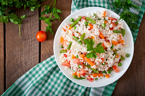 Rețetă orez cu legume