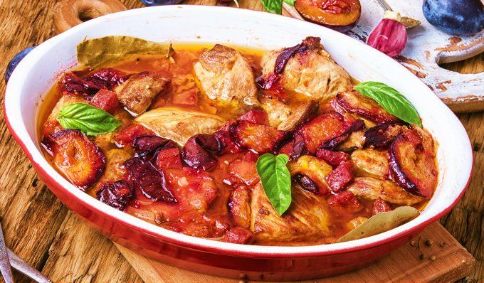friptura de porc cu prune