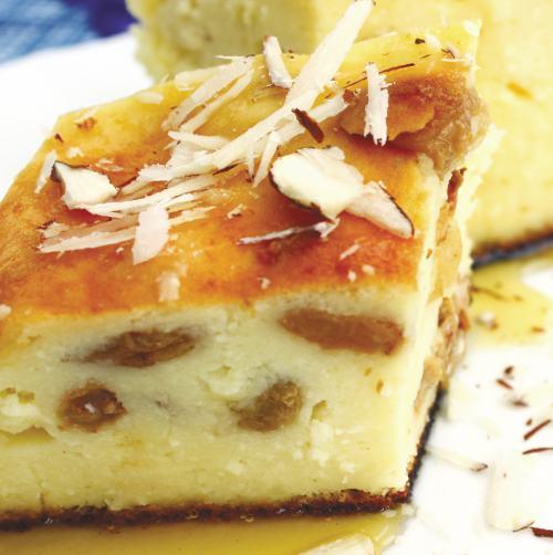 Placinta cu brânza dulce şi stafide