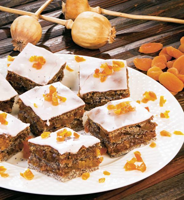 Prăjitură cu mac şi caise uscate thumbnail