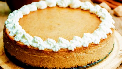 Cheesecake cu dovleac fără coacere