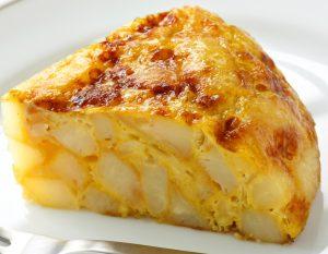 sectiune omleta spaniola