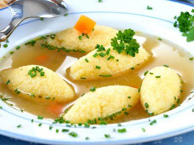 Supă cu găluște de post
