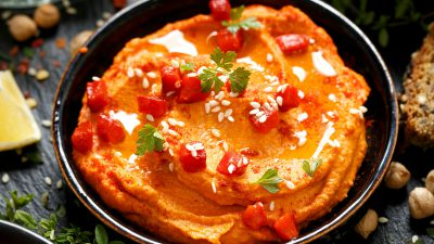 Hummus cu ardei copți