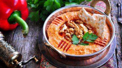 Muhammara – Pastă de ardei copți cu nuci