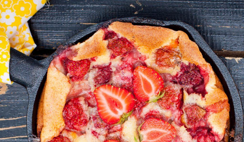 Clafoutis cu căpșuni (5)