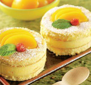 Prăjituri turnulete cu piersici - retete prajituri delicioase