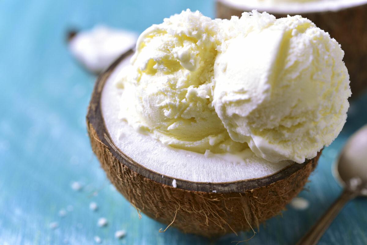 înghețată de post cu cocos